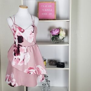 Floral Sweetheart Fir and Flare Dress SZ M